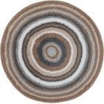 Kleine Wolke Badteppich Mandala Mischgewebe Hellbraun Ø 100 cm
