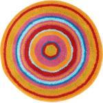Kleine Wolke Badteppich Mandala Mischgewebe Orange Ø 100 cm