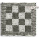 Knit Factory Geschirrtuch » Topflappen Block Ecru/Khaki«, (1-tlg)