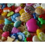 Knöpfe Kinderknöpfe Bunte Mischung 100 Stück unsortiert
