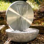 KÖHKO Gartenbrunnen Bocca Edelstahl Silber