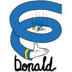 Komar Disney Edition 4 Wandbild Donald Duck Spiral (50 x 70 cm, Vlies)