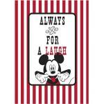 Komar Disney Edition 4 Wandbild Mickey Mouse Laugh (50 x 70 cm, Vlies)