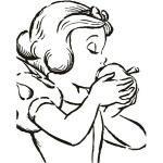 Komar Disney Edition 4 Wandbild Snow White Apple Bite (50 x 70 cm, Vlies)