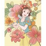 Komar Disney Edition 4 Wandbild Snow White Flowers (50 x 70 cm, Vlies)
