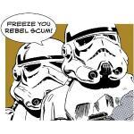 Komar Star Wars Poster Comic Quote Stormtrooper (70 x 50 cm, Vlies)