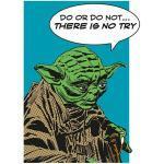 Komar Star Wars Wandbild Comic Quote Yoda (50 x 70 cm, Vlies)