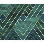 Komar VLIESTAPETE, Grün, Gold, Papier, Abstraktes, 300x250 cm