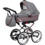 Kombi Kinderwagen Luxus Complete, Brokat grau