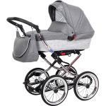 Kombi Kinderwagen Luxus Complete, Granit grau/weiß