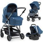 Kombi Kinderwagen Rapid 4 Plus Trioset, denim/grey blau/grau