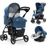 Kombi Kinderwagen Shopper SLX Trioset, denim/silver blau/silber