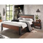 Komfortbett in Dunkelgrau und Altholz Optik Loft Design (2-teilig)