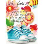 Komma3 Glückwunschkarte Glückspilz zwei kleine Schuhe