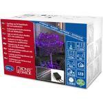 Konstsmide 3698-540 LED Globelichterkette mit runden Dioden / für Außen (IP44) / 24V Außentrafo / mit rot/blau Farbwechsel / 80 farbwechselnden Dioden / schwarzes Kabel