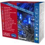 Konstsmide 6060-400 LED Minilichterkette / für Außen (IP44) / 24V Außentrafo / 120 blaue Dioden / grünes Kabel