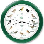 KOOKOO Singvögel Grün, Die Singende Vogeluhr, mit 12 heimischen Singvögeln und echten, natürlichen Vogelstimmen, mit RC Funkquarzwerk