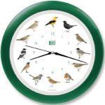 KOOKOO Singvögel Quarzwerk Grün, Die Singende Vogeluhr, ist eine Uhr mit 12 heimischen Singvögeln und echten, natürlichen Vogelstimmen