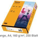 Kopierkarton A4 Tecno Colors / Rainbow mittelorange 160 g/m² 250Bl.