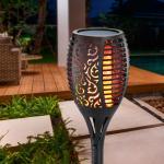 Korinth - solarbetriebene Gartenfackel mit Flammeneffekt