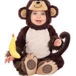 Kostüm Affe, 1-tlg. braun Jungen Baby