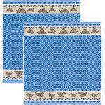 Kracht Frottier-Geschirrtuch im 2er-Pack blau 50x50 cm