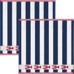 Kracht Frottier-Geschirrtuch im 2er-Pack blau/blau 50x50 cm