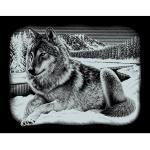 "Kratzbild ""Wolf"", 25 x 20 cm"