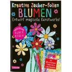 Kreative Zauber-Folien: Blumen: Set mit 10 Zaubertafeln 20 Folien und Anleitungsbuch als Buch von Anton Poitier