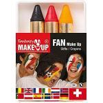 Kreul 37055 - Schminkstifte Fantasy Make Up, 3 Stifte, Schminkfarben, Deutschland, Fan, Gesichts- und Körperbemalung
