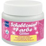 Kreul 74348 - Schablonierfarbe Glitter-Silber fein, 150 ml