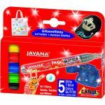 KREUL Javana texi mäx Glitter für helle und dunkle Stoffe 5er Set Stoff- und Seidenmalfarben texi mä
