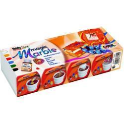 Kreul Magic Marble Marmorierfarben Grundfarben 6er Set je 20 ml (GLO663151886)
