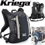 Kriega Motorrad Rucksack R15 trinkwasserkompatibel leicht mit Hüftgurt und Quadloc-Gurt-System 15 Liter