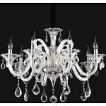 KRONLEUCHTER COLOSSAL AVORIO , Creme , Metall, Glas , 85-160 cm , höhenverstellbar , Innenbeleuchtung, Pendelleuchten