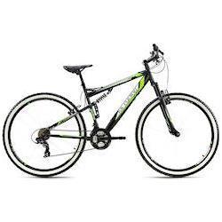 KS Cycling Mountainbike Scrawler, 21 Gang Shimano Tourney Schaltwerk, Kettenschaltung schwarz Herren Fahrrad