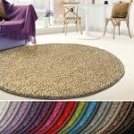 Kubus Hochflor-Teppich »Madrid«, rund, braun, Beige 70