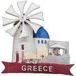 Kühlschrankmagnet in 3D-Windmühlenform, Griechenland-Souvenir, Heim- und Küchendekoration, magnetischer Aufkleber, Santorini, Griechenland, Kühlschrankmagnet, Reise-Souvenir, Geschenk