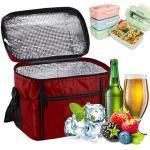 Kühltasche Faltbar, Sinwind Picknicktasche Kühltasche Lsoliertasche Lunch Kühltasche Eistasche Lunch Tasche Kühlbox für Picknick 10L (rot)