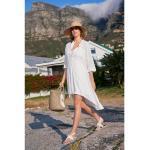 Weiße Strandkleider & Strandtuniken für Damen Größe M