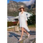 Reduzierte Weiße Strandkleider & Strandtuniken für Damen Größe M