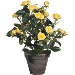 Kunstblume Rose Ø 25 H 33 cm gelb