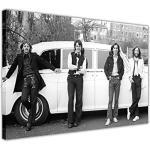 "Kunstdruck auf Leinwand, Motiv ""Die Beatles"", Motiv John Lennon, Paul Mcartney, Weiß"