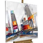 KunstLoft® Acryl Gemälde 'Times Square Rush Hour' 80x80cm handgemalt Leinwand Bild