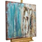 KUNSTLOFT Gemälde »Acryl Gemälde 'Shower of Crystals' 80x80«, handgemaltes Bild auf Leinwand