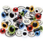 Kunststoffaugen, bunt, 8 - 12 mm, 30 Stück