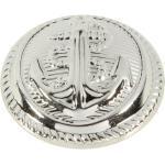 Kunststoffknopf in Silber mit Anker-Motiv 13mm