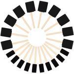 Kurtzy Schaumstoff Stupfpinsel (20er Pack) - Zwei Größen - Holzgriff Schaumstoff Pinsel Set - Malwerkzeug für Acryl, Öl, Beizen & Aquarelle - Kunst- und Bastelbedarf für Erwachsene & Kinder