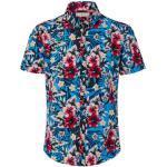 Blaue Kurzärmelige TCHIBO Herrenhemden Übergrößen für den Sommer