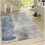 Kurzflor Wohnzimmer Teppich Used Look Mit Rokoko Muster Modern In Braun Beige Paco Home Blau